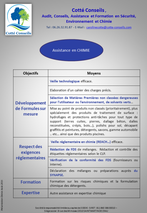 COTTE CONSEILS_Chimie FDS