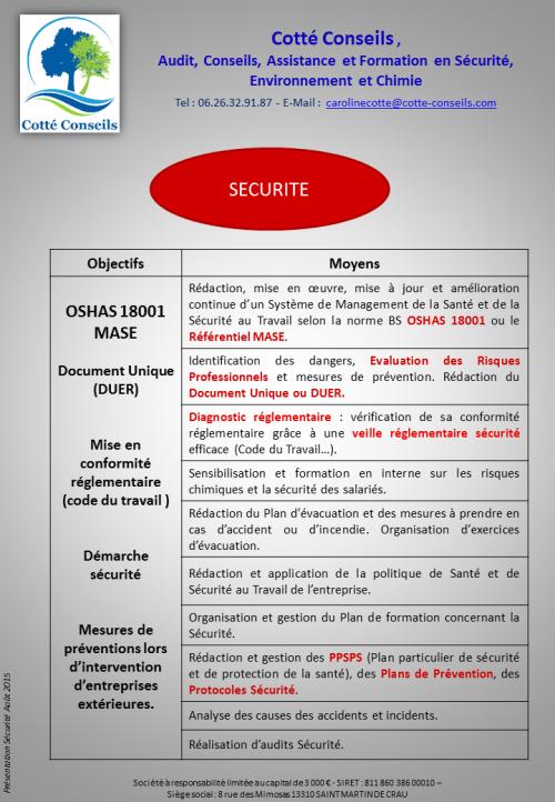 COTTE CONSEILS_Securite